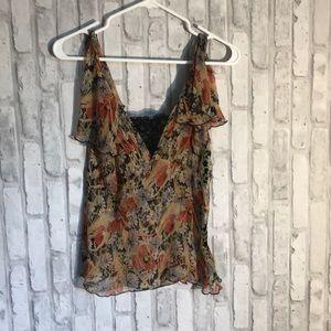 Free people silk blouse size 6
